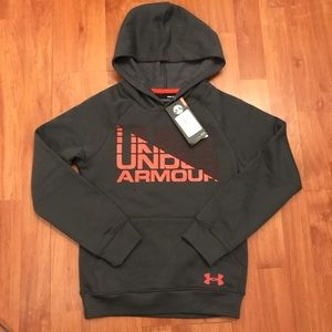 🏆Boys Under Armour Size Small Dark Grey Hoodie🏆